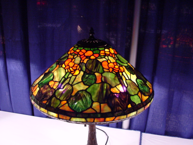 The asgla lamp display at the art glass show portland convention center portland or july 9 11 2004